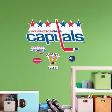 Washington Capitals Throwback Logo Fathead Wall Graphic