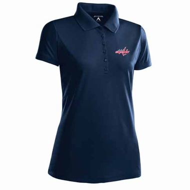 Washington Capitals Womens Pique Xtra Lite Polo Shirt (Alternate Color: Navy)