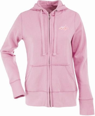 Washington Capitals Womens Zip Front Hoody Sweatshirt (Color: Pink)