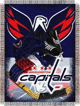Washington Capitals Woven Tapestry Blanket