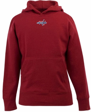 Washington Capitals YOUTH Boys Signature Hooded Sweatshirt (Team Color: Red)