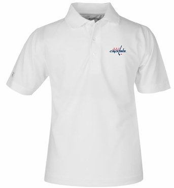 Washington Capitals YOUTH Unisex Pique Polo Shirt (Color: White)
