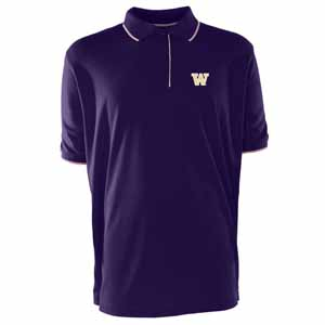 Washington Mens Elite Polo Shirt (Color: Purple) - X-Large