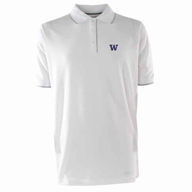 Washington Mens Elite Polo Shirt (Color: White)