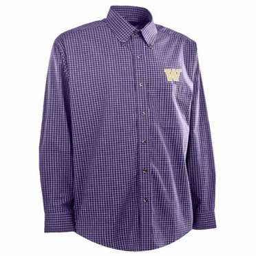 Washington Mens Esteem Button Down Dress Shirt (Team Color: Purple)