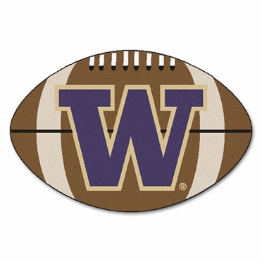 Washington Football Shaped Rug