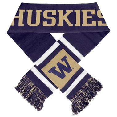 Washington Huskies 2012 Team Stripe Knit Scarf
