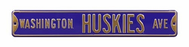 Washington Huskies Ave Street Sign