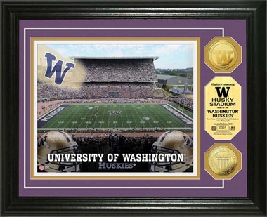 Washington Huskies University of Washington Husky Stadium 24KT Gold Coin Photomint