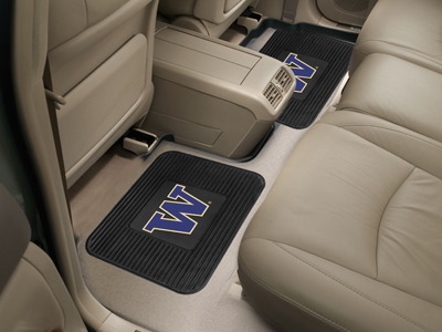Washington SET OF 2 Heavy Duty Vinyl Rear Car Mats