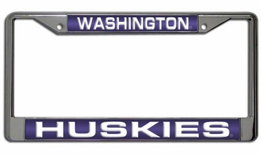 Washington Laser Etched Chrome License Plate Frame