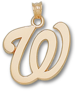Washington Nationals 10K Gold Pendant