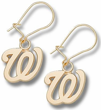 Washington Nationals 10K Gold Post or Dangle Earrings