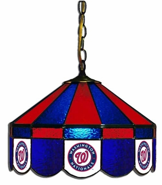 Washington Nationals 16 Inch Diameter Stained Glass Pub Light