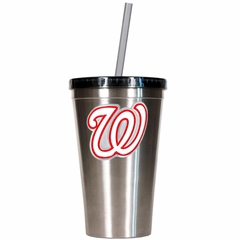 Washington Nationals 16oz Stainless Steel Insulated Tumbler with Straw
