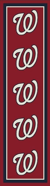 "Washington Nationals 2'1"" x 7'8"" Premium Runner Rug"