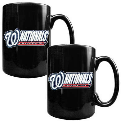 Washington Nationals 2 Piece Coffee Mug Set (Wordmark)