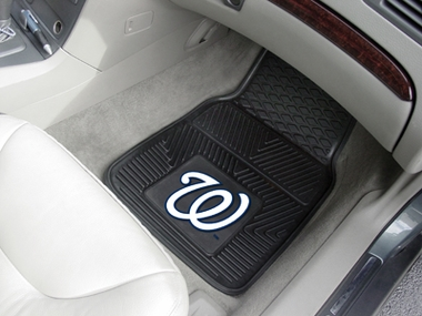 Washington Nationals 2 Piece Heavy Duty Vinyl Car Mats