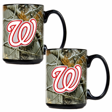 Washington Nationals 2 Piece Open Field Coffee Mug Set