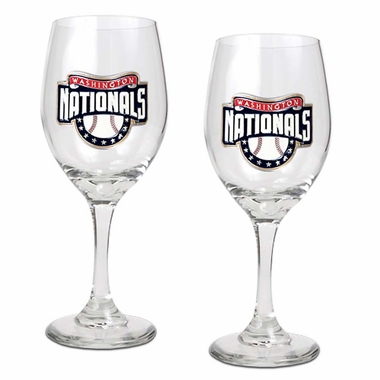 Washington Nationals 2 Piece Wine Glass Set