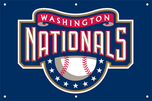 Washington Nationals 2 x 3 Horizontal Applique Fan Banner