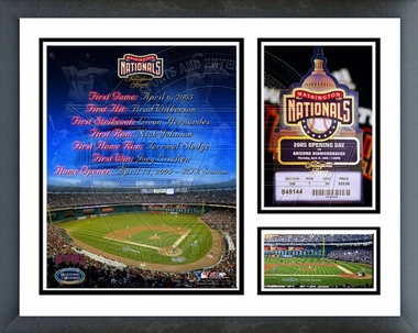 Washington Nationals 2005 Opening Day Framed Milestones & Memories
