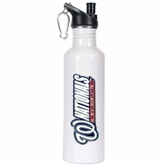 Washington Nationals 26oz Stainless Steel Water Bottle (White)