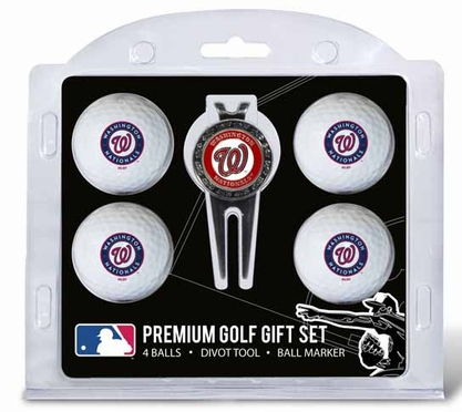 Washington Nationals 4 Ball and Tool Gift Set
