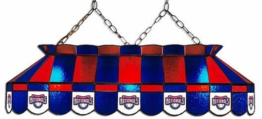 Washington Nationals 40 Inch Rectangular Stained Glass Billiard Light