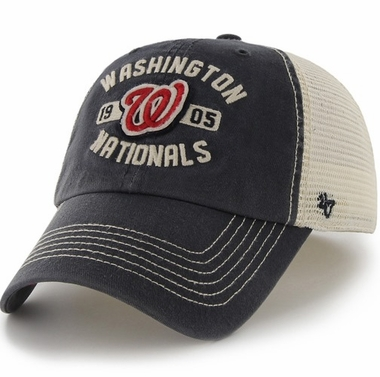 Washington Nationals 47 Brand Underhill Mesh Back Stretch Fit Hat