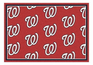 "Washington Nationals 5'4"" x 7'8"" Premium Pattern Rug"