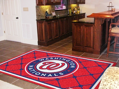 Washington Nationals 5 Foot x 8 Foot Rug