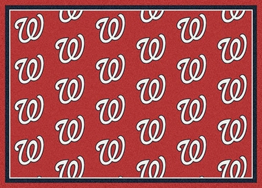 "Washington Nationals 7'8 x 10'9"" Premium Pattern Rug"