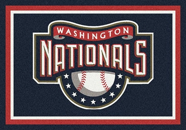 "Washington Nationals 7'8"" x 10'9"" Premium Spirit Rug"