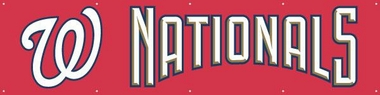 Washington Nationals 8 Foot Banner