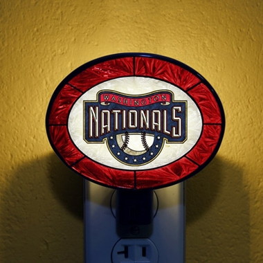 Washington Nationals Art Glass Night Light