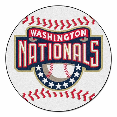 Washington Nationals 27 Inch Baseball Shaped Rug