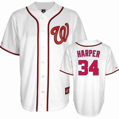 Washington Nationals Bryce Harper YOUTH Replica Jersey - White