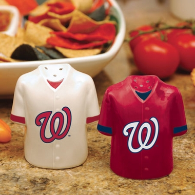 Washington Nationals Ceramic Jersey Salt and Pepper Shakers