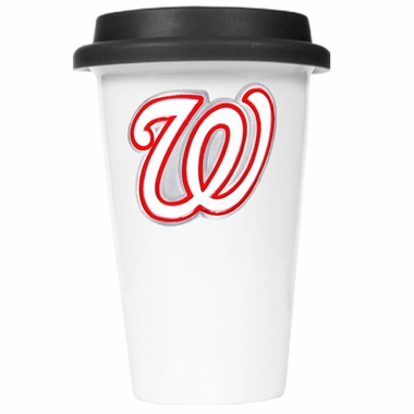 Washington Nationals Ceramic Travel Cup (Black Lid)