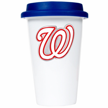 Washington Nationals Ceramic Travel Cup (Team Color Lid)
