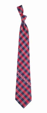 Washington Nationals Check Poly Necktie