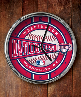 Washington Nationals Chrome Clock