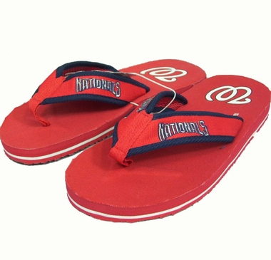 Washington Nationals Contoured Flip Flop Sandals