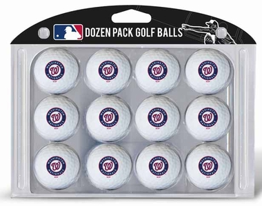Washington Nationals Dozen Golf Balls
