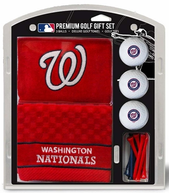 Washington Nationals Embroidered Towel Golf Gift Set