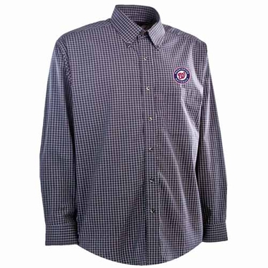 Washington Nationals Mens Esteem Button Down Dress Shirt (Team Color: Navy)