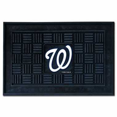 Washington Nationals Heavy Duty Vinyl Doormat