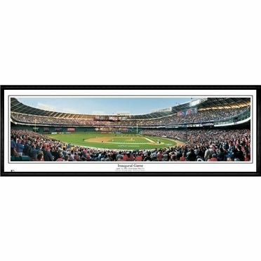 Washington Nationals Inaugural Game Framed Panoramic Print