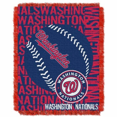 Washington Nationals Jacquard Woven Throw Blanket